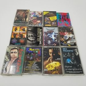 Lot of 12 80's & 90's Hip Hop Cassette Tapes